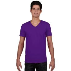 GILDAN V. nyakú férfi póló, lila (Gildan V. nyakú férfi póló, lila)