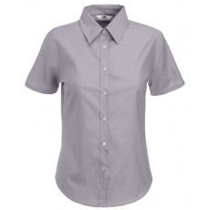 Fruit of the Loom FoL Ladies Oxford Short Sleeve Shirt oxfordszürke (FoL Ladies Oxford Short Sleeve Shirt oxfordszürke)