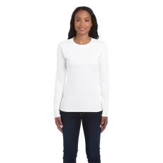 GILDAN női h.ujjú Softstyle póló, fehér (Gildan női h.ujjú Softstyle póló, fehér)
