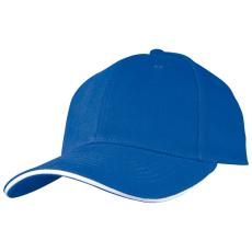 SANDWICH baseballsapka, kék (SANDWICH 6 paneles vászon baseballsapkaszellõzõnyílásokkal.)