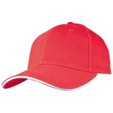 SANDWICH baseballsapka, piros (SANDWICH 6 paneles vászon baseballsapkaszellõzõnyílásokkal.)