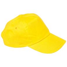 Vászon baseballsapka, sárga (5 paneles baseballsapka pamutból)