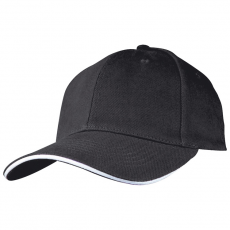 SANDWICH baseballsapka, fekete (SANDWICH 6 paneles vászon baseballsapkaszellõzõnyílásokkal.)