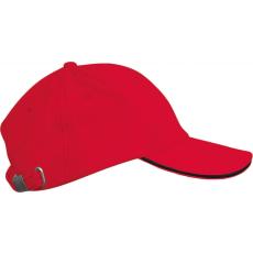 KARIBAN sapka, 6 paneles,U, piros/fekete (Kariban sapka, 6 paneles,U, piros/fekete)