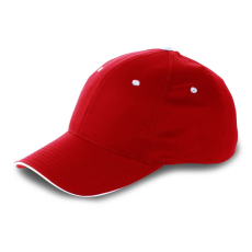 Hill 6 paneles tépőzáras baseballsapka, piros (Hill 6 paneles tépőzáras baseballsapka, piros)
