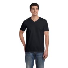 GILDAN V. nyakú férfi póló, fekete (Gildan V. nyakú férfi póló, fekete)