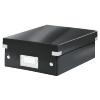 Tárolódoboz, rendszerező, PP, karton, S méret, LEITZ Click&Store, fekete