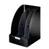 Iratpapucs, műanyag, 205 mm, elválasztókkal, LEITZ Plus Jumbo, fekete