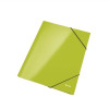 GUMIS mappa, 15 mm, karton, A4, lakkfényű, LEITZ Wow, zöld