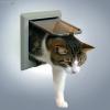 Trixie, Trixie macska ajtó 4 funkciós - vastag ajtóba ( szürke, 14,7 × 15,8 cm )