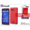 Made for Xperia MUVIT Sony Xperia E4G (E2003) hátlap - Made for Xperia Muvit Soft Touch - red