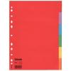 Regiszter, karton, A4, 6 részes, ESSELTE Economy, színes
