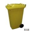 Külső hulladéktároló, szemetes kuka, sárga színben, 240 literes, műanyag HUL-0005-4