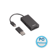 Hama USB 2.0 OTG Hub/Card Reader for Smartphone/Tablet/Notebook/PC Black