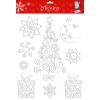Maildor Stickino Karácsony ablakmatricák - Csillámhab NAGY nr. 2