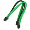 Nanoxia 8-Pin EPS hosszabbító - 30 cm - Zöld/Fehér/Fekete