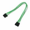 Nanoxia 4-Pin Molex tápkábel hosszabító 30 cm - Zöld/Fehér