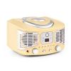 Auna RCD320, retró CD lejátszó, FM, AUX, krémszínű