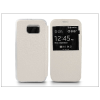 Haffner Samsung SM-G920 Galaxy S6 S-View Flexi oldalra nyíló flipes tok - fehér