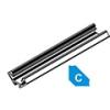 Lumines Alu profil eloxált (Type-C) LED szalaghoz, opál