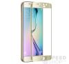 utángyártott Samsung G925 Galaxy S6 Edge tempered glass üvegfólia (teljes kijelzős-hajlított), arany mobiltelefon kellék