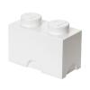 LEGO Fehér 2x1 tárolódoboz