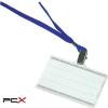 DONAU Azonosítókártya tartó, kék nyakba akasztóval, 85x50 mm, mûanyag, DONAU