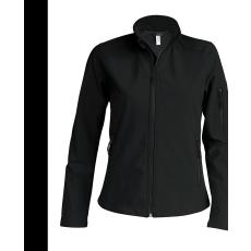 KARIBAN női SOFTSHELL dzseki, fekete (Kariban női SOFTSHELL dzseki, 3 rétegű préselt, lélegző és)