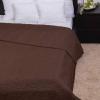 NATURTEX Clara csoki színű microfiber ágytakaró (Márvány steppelés)