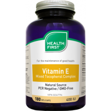 Health First Vitamin E 400 IU kapszula 180db vitamin