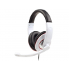 Gembird microphone & stereo headphones with volume control  white