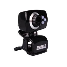 4world Webkamera 2 Mpx USB 2.0  LED világítással + mikrofon  Univerzális webkamera