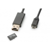 Ednet Data/Charging MicroUSB cable with MicroSD/OTG