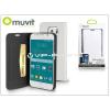 Samsung Samsung SM-G920 Galaxy S6 flipes tok kártyatartóval - Muvit Slim and Stand - white