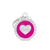 My family biléta - Glam köralakú, szív pink (BH26GM03)