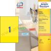 Avery 210 x 297mm sárga univerzális címke / Avery 3473