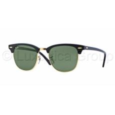 Ray-Ban RB3016 W0365 CLUBMASTER EBONY/ ARISTA CRYSTAL GREEN napszemüveg (RB3016__W0365)