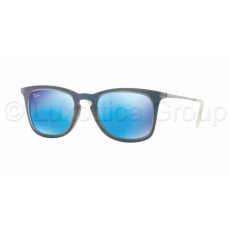 Ray-Ban RB4221 617055 SHOT BLUE RUBBER LIGHT GREEN MIRROR BLUE napszemüveg (RB4221__617055)