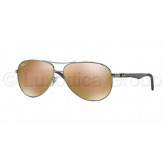 Ray-Ban RB8313 004/N3 CARBON FIBRE SHINY GUNMETAL BROWN MIRROR GOLD POLAR napszemüveg (RB8313__004_N3)