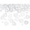 Csipkés szív konfetti (15 gr), fehér