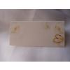 Ültetőkártya rózsával és gyűrűpárral (25 db)-(WS40)