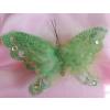 Glitteres, tollas lepke zöld (15 cm)-12 db