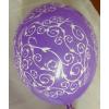 Inda mintás lufi lila (10 db)