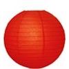 Lampion gömb (30 cm) piros