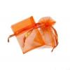 8*10 cm organza tasak narancs (10 db)