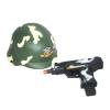 Katona szett (gyerek méret) bukósisak + berregő puska