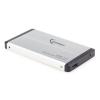 """Gembird 2.5"""" SATA külső ház USB 3.0 ezüst (EE2-U3S-2S)"""