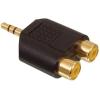 Aranyozott 3.5mm stereo jack - 2 RCA adapter AC-010GOLD