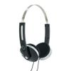 4world Sztereo fülhallgató kényelmes fülpárnákkal - fekete (08247)