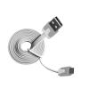 Msonic mikro USB fehér lapos kábel 1m